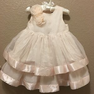 Janie & Jack Pale Pink Ruffled Formal Dress 12-18M
